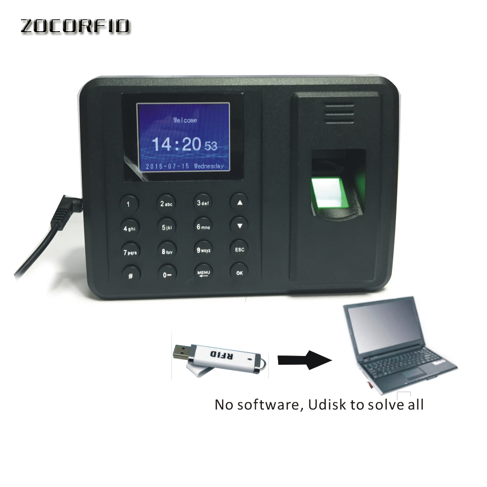 Free Shipping  Biometric Fingerprint Time Clock Recorder Attendance Employee Digital Electronic  / English Voice