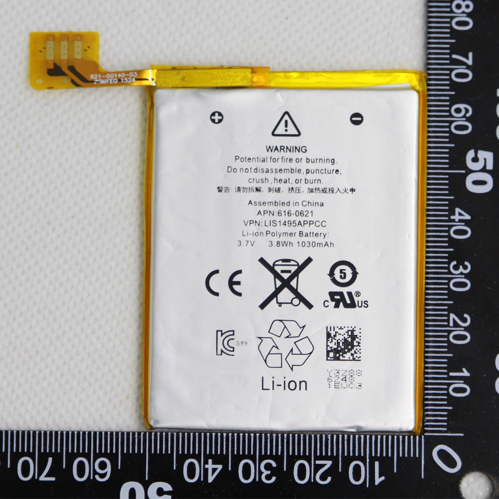 With adhesive Tools 1030mAh 616-0621 / LIS1495APPCC Internal Replacement LI-ion Battery For iPod Touch 5th 5 5g Generation(China)