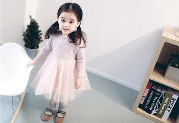 7168 м Осень Зима младенческой Одежда для девочек детей князей Дети платье для маленькой девочки повседневная клетчатая Новогоднее платье но...