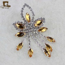 Turban cap acessory Crystal Rhinestone Glass Brooch Pins Wedding Jewelry pendant gold tone