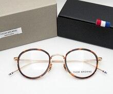 Том Браун очки металлические каркасы TB905 мужчины женщины Óculos Винтаж очки по рецепту кадров Круглые очки Для Чтения с коробкой