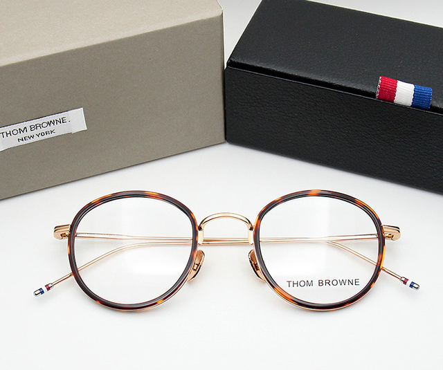 783736c9f2a Thom Browne eyeglasses metal frames TB905 men women Oculos Vintage  prescription eyewear frames Round Reading glasses