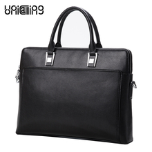 Leather laptop bag men fashion brand luxury genuine leather men bag stylish male business shoulder briefcase double-layers space