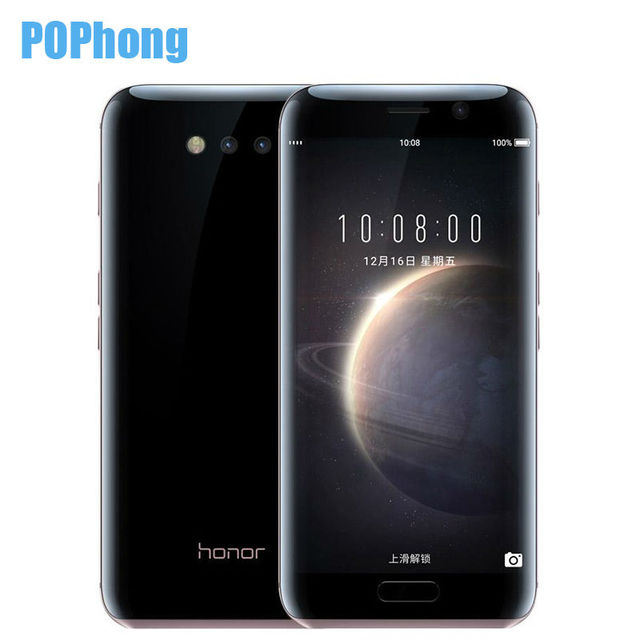 Origina Huawei Honor Magia 5.09 pulgadas Ultra Delgada Cámara 12.0MP Android 5.0 4G RAM 64G ROM de Doble Tarjeta SIM de Teléfono Móvil En Varios Idiomas