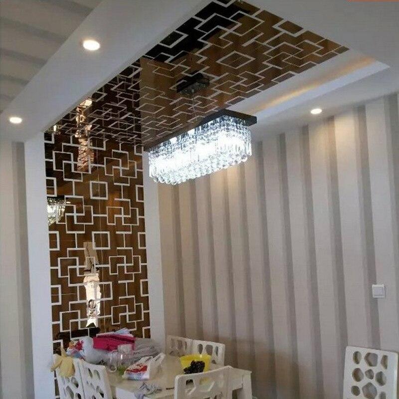 Diy wohnzimmer dekoration tv wand aufkleber spiegeleffekt ...
