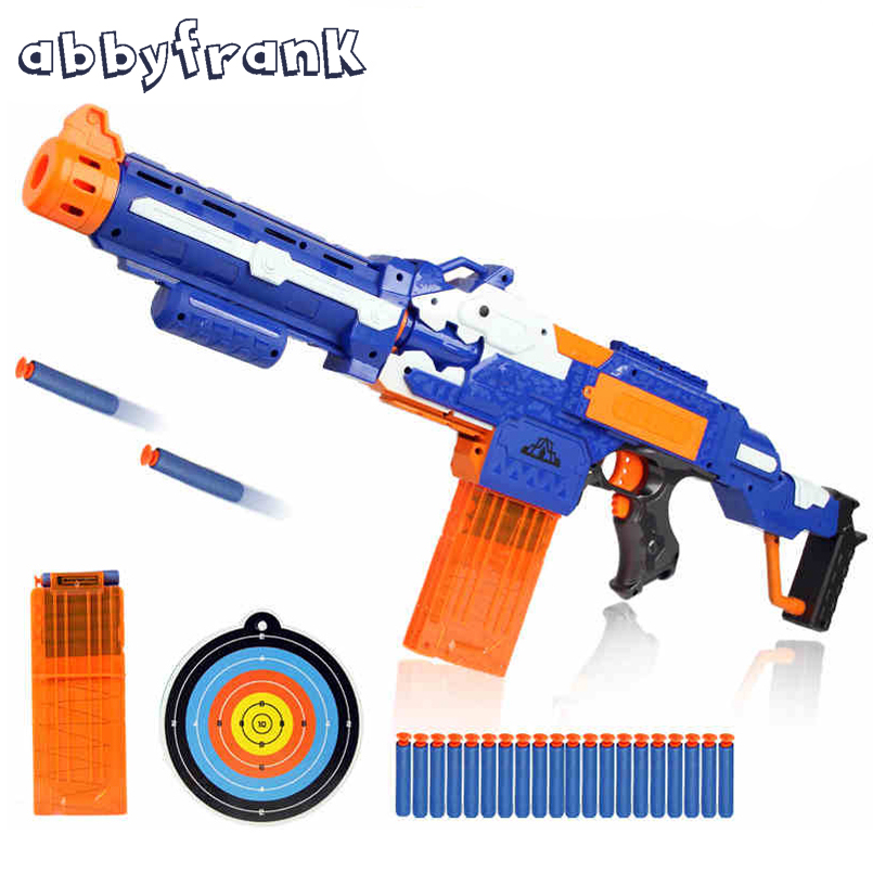 Abbyfrank Soft Bullet Paintball Toy Gun Sniper Rifle Gun & 20 Bullets 1 Target Plastic Electric Arma Arme Orbeez Gun Toys