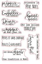 French words Transparent Clear Silicone Stamp/Seal for DIY scrapbooking/photo album Decorative clear stamp sheets A877