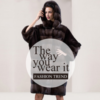 PHILLANO Bat Sleeved Winter Fur Coat Women Clothing Real Fur Coats Mink Scandinavia Denmark NAFA Plus Size YG12091 100