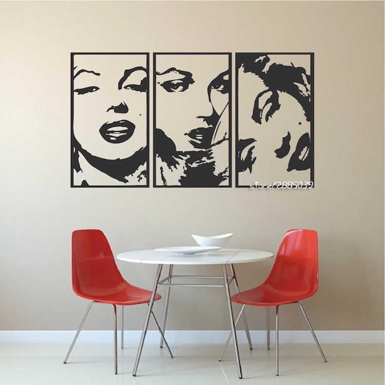 fc10192178 Marilyn Monroe Quote Vinyl Wall Stickers Art Mural Home Decor Decal Adesivo  De Parede Wallpaper Home