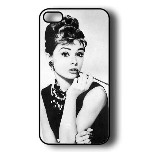 Free shipping Audrey Hepburn Makeup Hard Plastic Case for iPhone 4/4s/5/5s/5c/6/6s/6 plus/6s plus