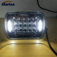 1pcs 7 X 5 LED High Low Beam Rectangular Headlight For Jeep Wrangler YJ 1986 1995