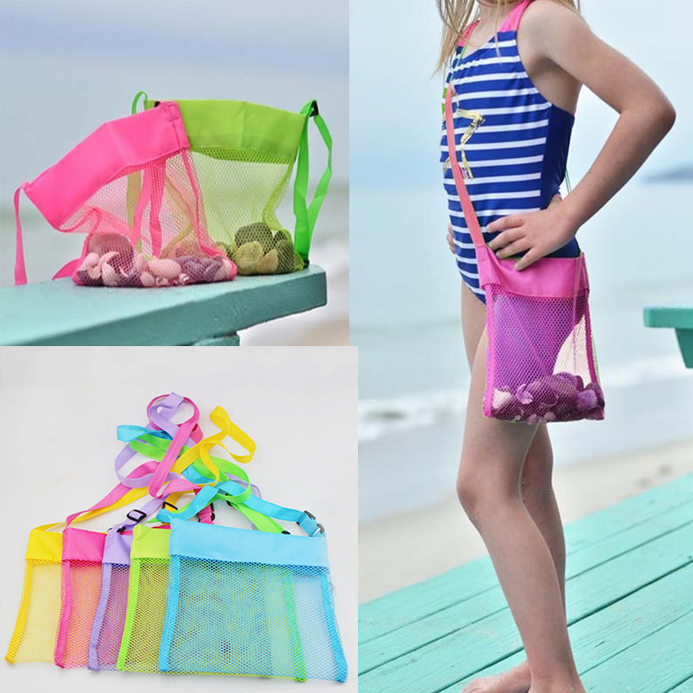 Outdoor Kids Crossbody Sand Toy Storage Carry Children Oxford Cloth Practical Large Capacity Organizer Adjustable Strap Mesh Bag