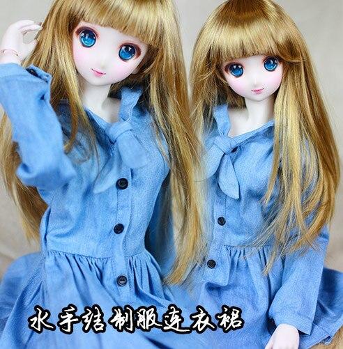1/3 SD10 /SD13 /SD16 DD  DY 16girl  BJD SD Doll accessories Bjd clothes blue dress 1 3 bjd doll dd dddy kirakira stiletto sandals rose gold sd16 sd10 sd13 dd