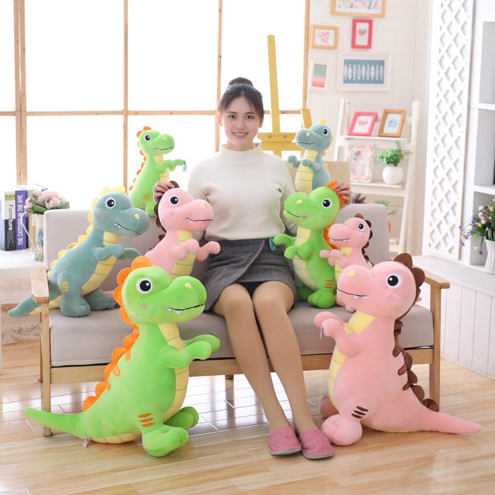 40-90CM Giant Cute Stuffed Down Cotton Dinosaur Plush Toys Cartoon Tyrannosaurus Rex Dolls For Children Kids Birthday Gifts