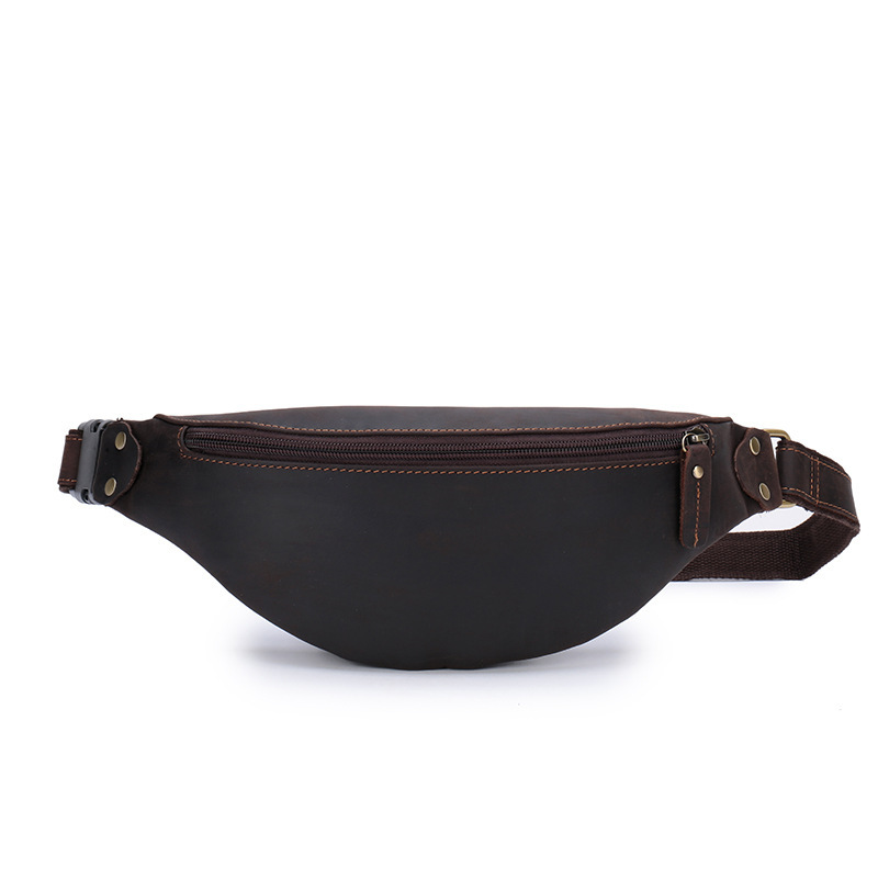 Men's Waist Bag For Belt Small Phone Beltbag Zipper Waterproof Large Capacity Genuine Leather Multi-function Fanny Packs Bum Bag