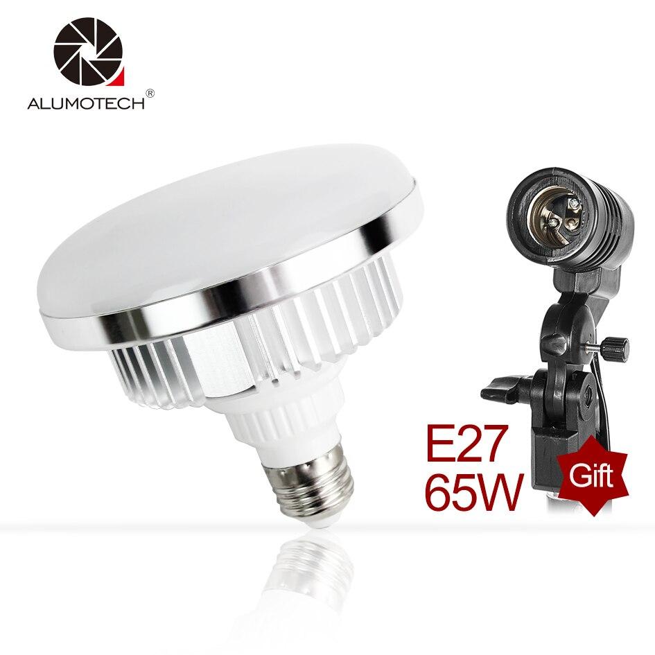 ALUMOTECH E27 65 w 5500 k Multi-fuction Haute Puissance Lumière Du Jour LED Ampoule Lampe Photographie Smartphone Maison Studio Tir