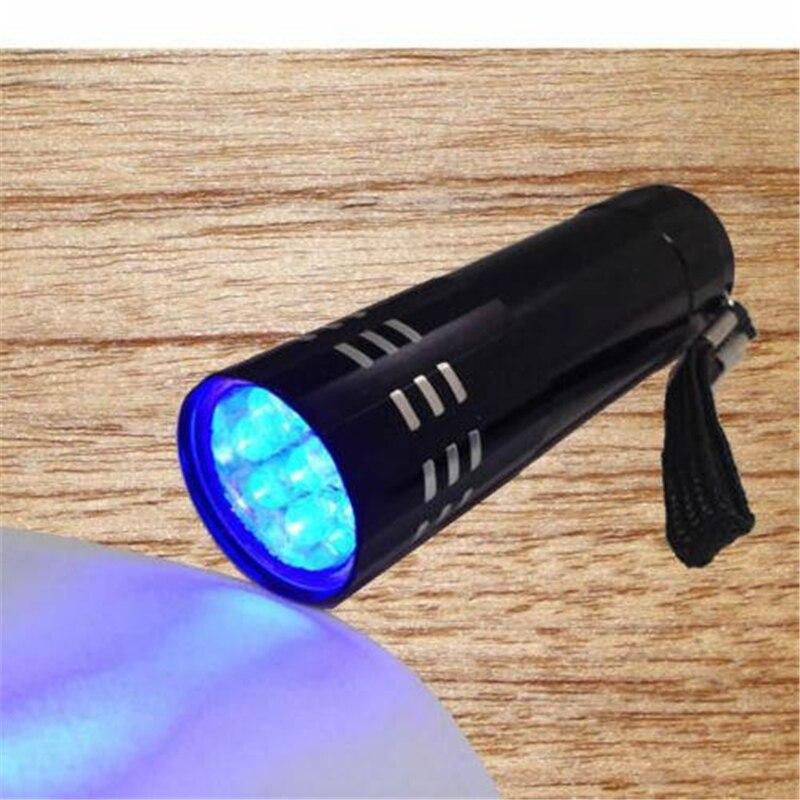 2016 Hot Sale Portable Mini Aluminum UV Flashlight Violet Light 9 LED UV Torch Light Lamp Flashlight mini uv torch portable usb rechargeable uv flashlight white light