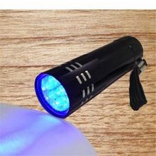 2018 Hot Sale Portable Mini Aluminum UV Flashlight Violet Light 9 LED UV Torch Light Lamp Flashlight