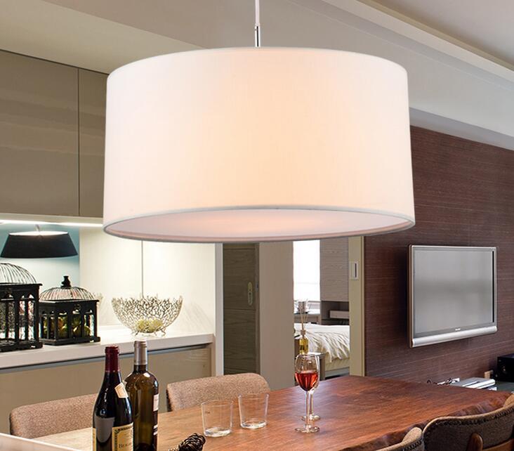 € 79.08 |Lámpara colgante de tela redonda Simple moderna para comedor  Lamparas Colgantes dormitorio nórdico negro blanco luces Colgantes en Luces  ...
