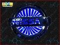 11.7 cm * 10 cm GRANDE 3D luz logotipo do carro LEVOU emblema do carro do laser 3D Caso de Substituição Para NISSAN LIVINA emblema azul branco vermelho 3 cores