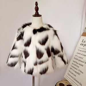 Image 4 - LILIGIRL Girls zimowa kurtka ze sztucznego futra dziecięcy ciepły płaszcz dla dziecka kolorowe znosić chłopcy wysokiej jakości kurtki futrzane topy ubrania