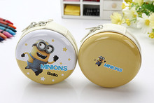 2016 Minions L-3 In-Ear stereo earphone for Iphone samsung MI LG storage box cartoon earbuds mobile phone microphone best gift