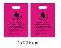 25X35 см Custom print пластиковый пакет две стороны печати, включают доставку по DHL к Ca