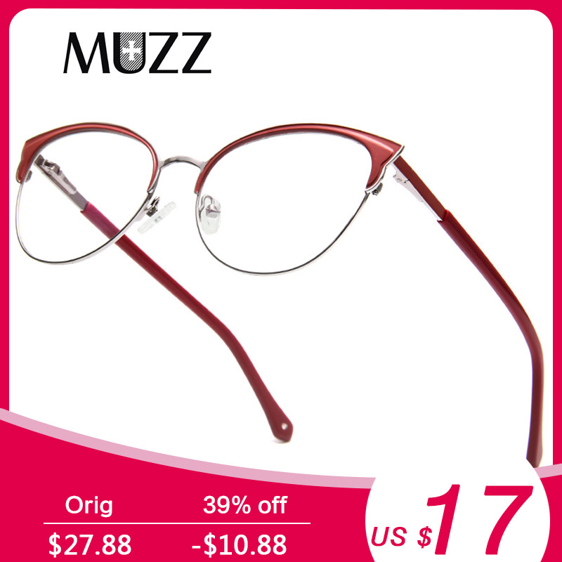 541b81909829 MUZZ Retro Cat Eye Glasses Frame Optical Glasses Prescription Glasses  Myopia Eyeglasses Frames Eyewear Oculos De Grau Feminino -in Eyewear Frames  from ...