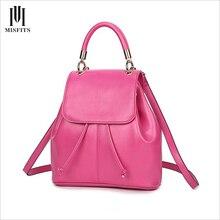 Женщины натуральная кожа рюкзак drawstring сумка мини для девочки роза красная корова кожа школьные сумки 2017 рюкзаки bagpack