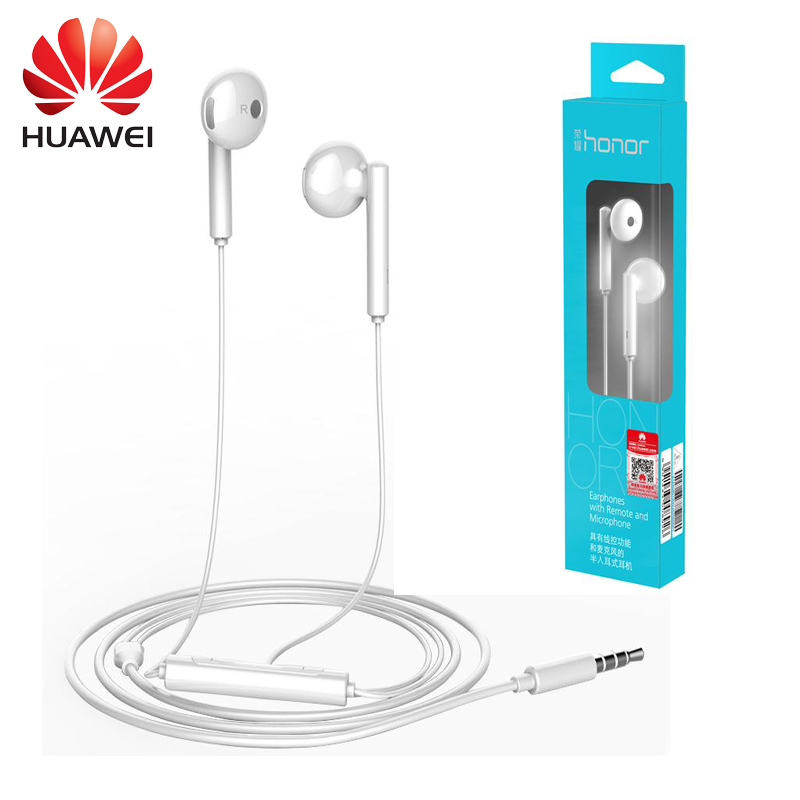 Original Huawei Honor Earphone AM115 Stereo phone  Earbuds In-Ear Earpiece with Microphone With Mic 3.5mm For iPhone LG HTC original senfer dt2 ie800 dynamic with 2ba hybrid drive in ear earphone ceramic hifi earphone earbuds with mmcx interface