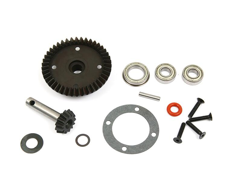 Metal front middle rear speed reduction reducer gear set for Losi 5ive t 5t rovan LT