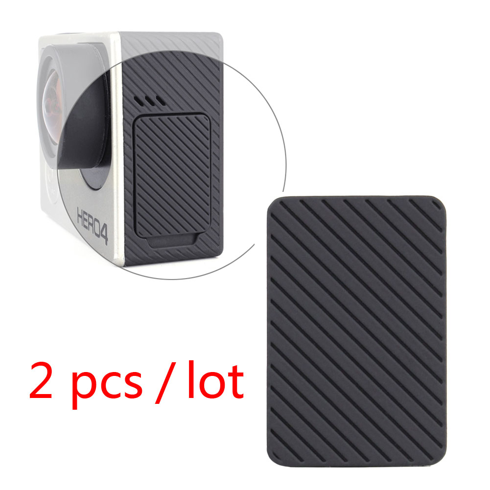 Go Pro Accessories 2pcs/lot USB Side Door Protective Cover Replacement for GoPro Hero 4 Silver/Black Edition