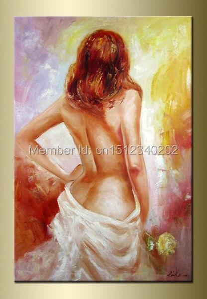 Mujer desnuda con punto
