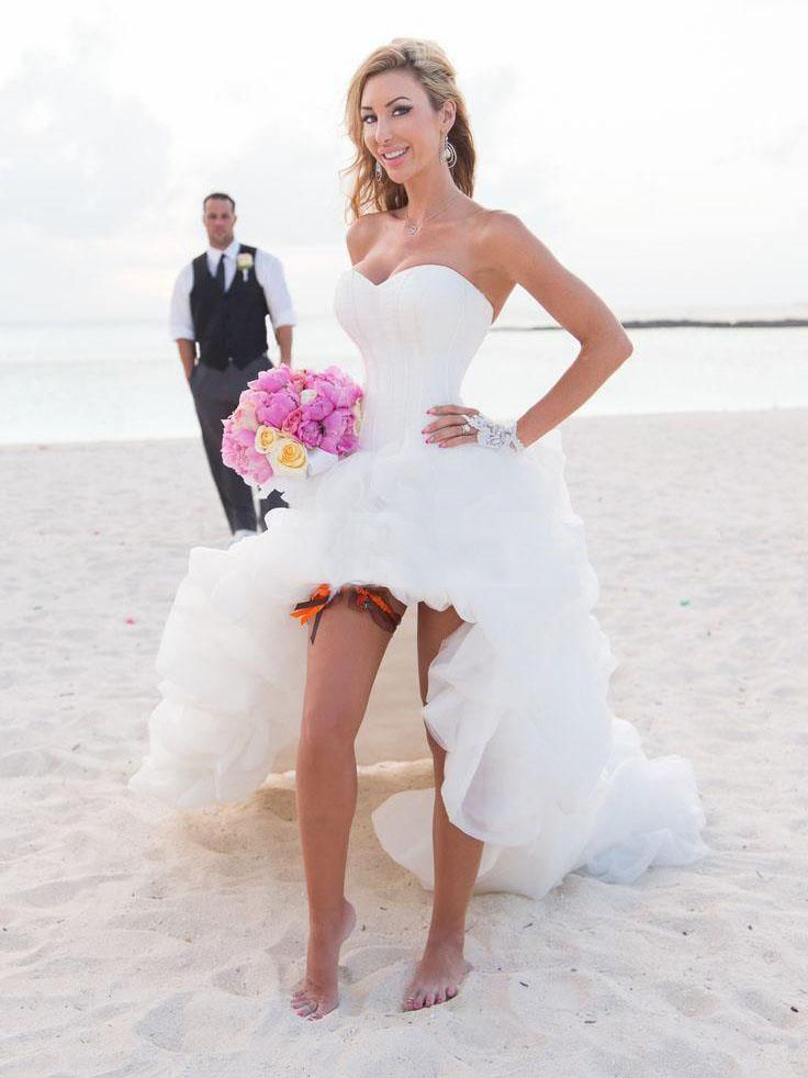 Beach Theme Wedding Dress For Women Special Occasion Bride Gown High Low Ruffles Sleeveless Organza Customize Vestidos In Dresses From Weddings