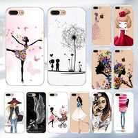 Funda de móvil para iPhone 6X6 s 7 8 Plus para iPhone 5S 5 SE para mujer flor silicona TPU suave cubierta X Full Coque