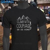 T Shirt Design Website Gildan Fashion Climb With Courage Mountain Adventure Short Sleeve O Neck T