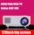 2015 Newest Smallest TV USB AV HDMI VGA LED Digital LCD Video Game Pico Mini 3D Projector projetor Beamer 1080p for pc beamer