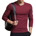 New Brand Clothing Men's Casual Tshirt Tops Solid Color Long Sleeve V Neck Male Culture Shirt Pullovers Sweatershirt Plus Size