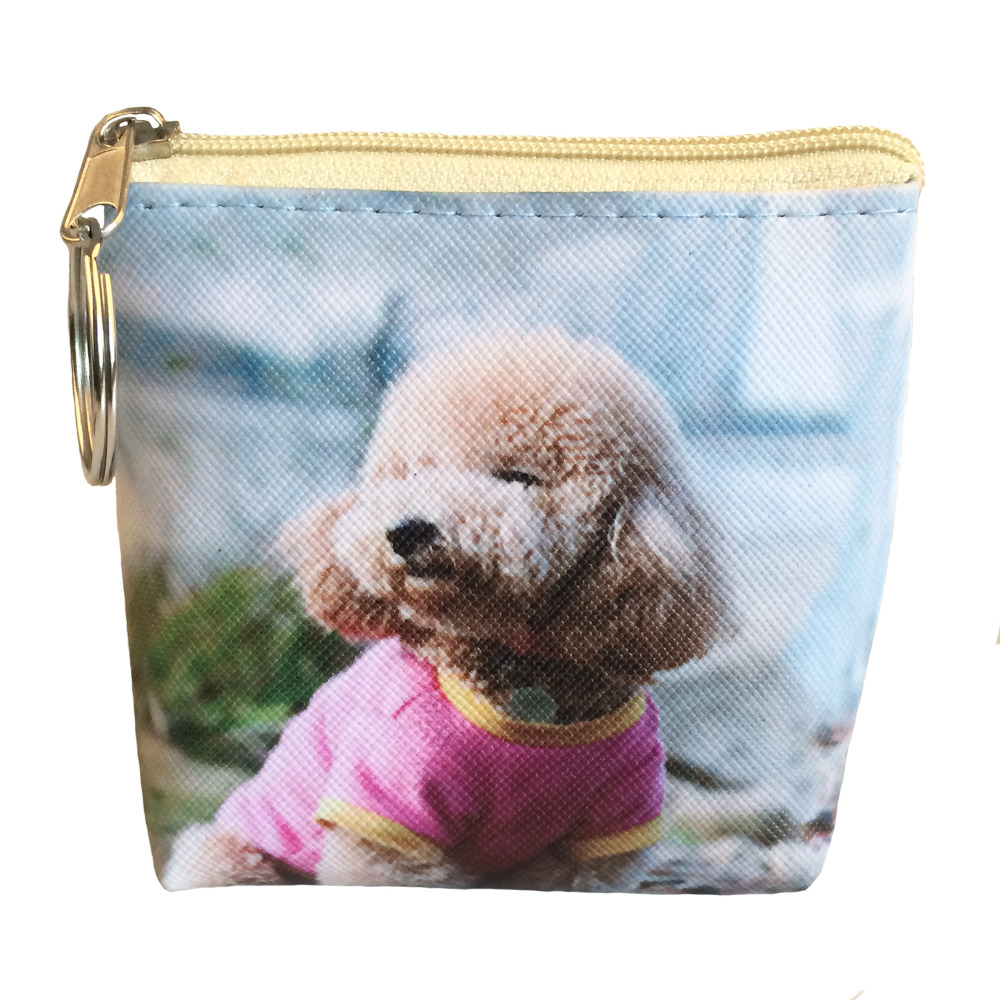 Rainbowgirl 2017 New printing cartoon Dog coin purses Women clutch Change purse mini wallet Ladies Female Short money bags 2017 new ladies purses in europe and america long wallet female cards holders cartoon cat pu wallet coin purses girl