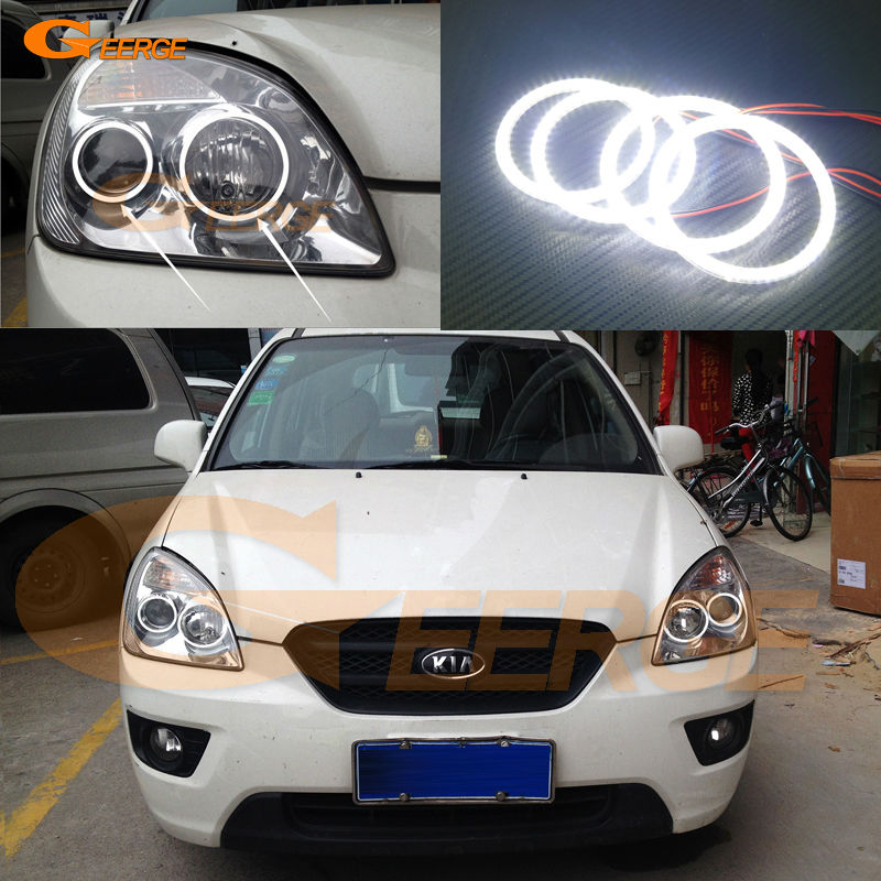For KIA Rondo Rondo7 2006 2007 2008 2009 2010 2011 2012 Excellent Ultra bright illumination smd led Angel Eyes Halo Ring kit for lifan 620 solano 2008 2009 2010 2012 2013 2014 excellent ultra bright illumination smd led angel eyes halo ring kit
