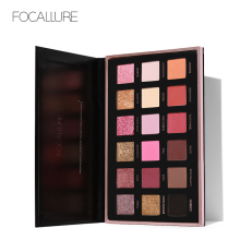 FOCALLURE Pro 18 Colors Glitter Matte Fácil de usar Warm Smokey Eye Shadow Palette Eyes Cosmetics Tools