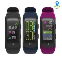 Banda inteligente Relógio Do Esporte GPS IPS Tela IP68 Pulseira Inteligente da Frequência Cardíaca À Prova D' Água Rastreador De Fitness Rastreador Atividade Esporte Pulseira
