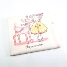 Хлопчатобумажная ткань с принтом принцесса Лоскутная Ткань для DIY шитье стеганые жир четверти материал для ребенка и ребенка 50X40 см