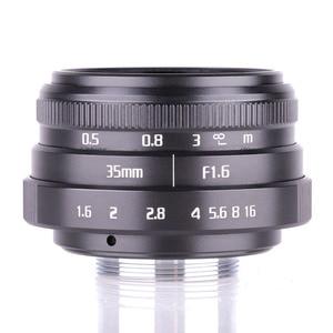 Image 2 - 복건 35mm f1.6 c 마운트 카메라 cctv 렌즈 ii + 어댑터 캐논 eos m EF M 미러리스 + 미니 블로잉