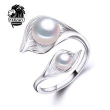 Fenasy богемия пресноводный перлы aliexpress жемчужина регулируемые жемчуг модные подвески кольца