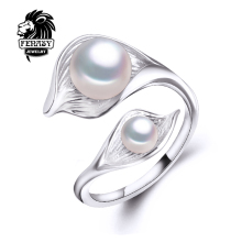 FENASY bohemia 2016 New Double Pearl Ring  trendy freshwater Pearl Adjustable charms Rings for women pearl Jewelry aliexpress