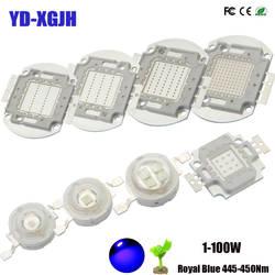 Высокая Мощность светодио дный чип Королевский синий 445-450Nm 300-350Ma 3000-3500Ma 1 Вт 3 Вт 5 Вт 10W 20W 30W 50W 100 Вт 445-450Nnm для DIY завод расти