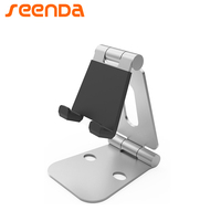 Mobile Phone Stand Desk Holder Tablet Stand Double Folded Metal Aluminum Multi Angle Adjustment Portable
