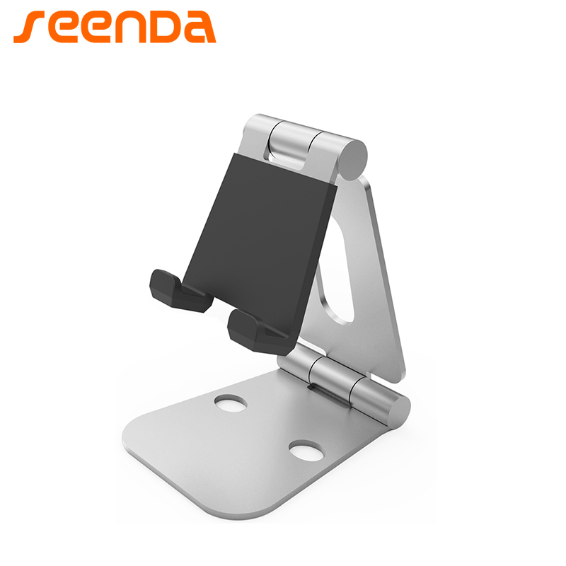 Mobile Phone Stand Desk Holder Tablet Stand Double-Folded Metal Aluminum Multi-Angle Adjustment Portable Stand