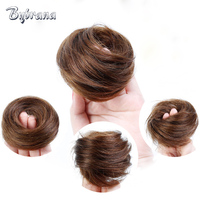 Bybrana Brazilian Hair Remy Human Chignon 4 Colors Donut Buns Up Do Chignon Extensions For Women